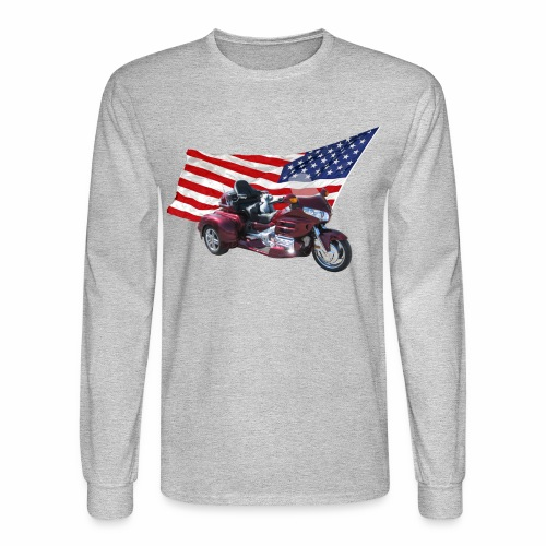 Patriotic Trike - Men's Long Sleeve T-Shirt
