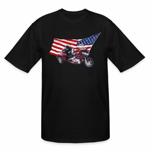 Patriotic Trike - Men's Tall T-Shirt