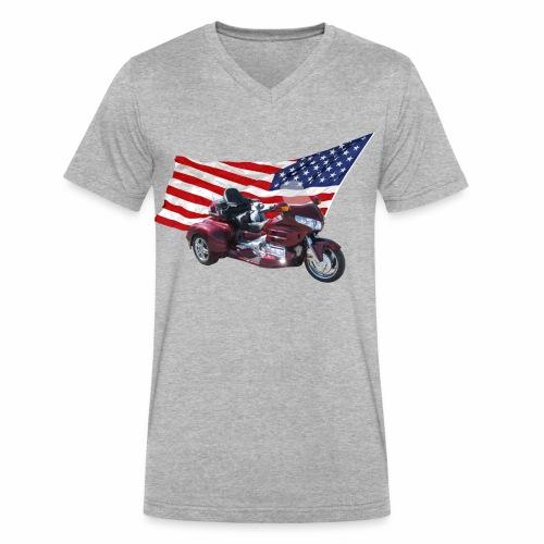 Patriotic Trike - Men's V-Neck T-Shirt by Canvas