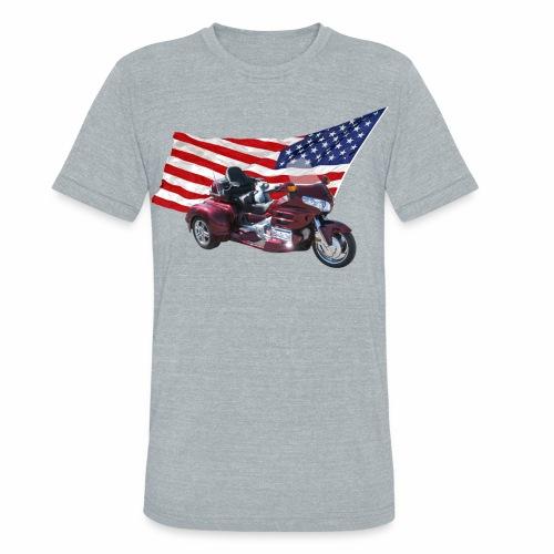 Patriotic Trike - Unisex Tri-Blend T-Shirt