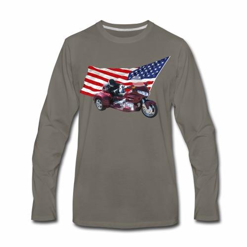 Patriotic Trike - Men's Premium Long Sleeve T-Shirt