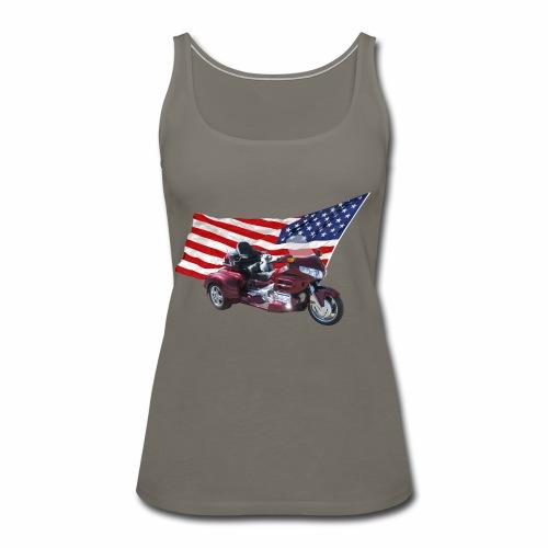 Patriotic Trike - Women's Premium Tank Top