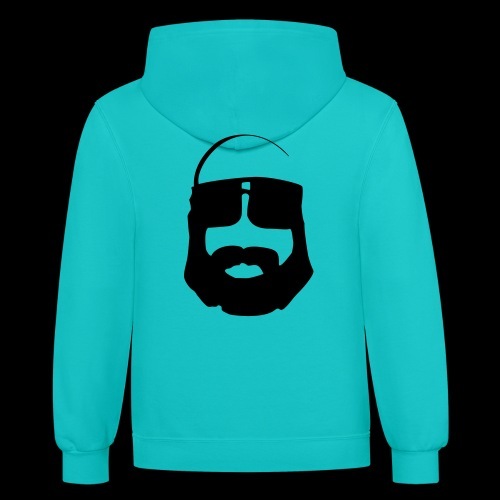 Contrast Hoodie - The Ted - www.TedsThreads.co All the beardy goodness that is The Ted.