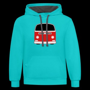 Contrast Hoodie - Show your Bay Window Bus pride!  Need more customization?  Click here: http://www.spreadshirt.com/design-your-own-t-shirt-C59/design/1000141322/article/15317834