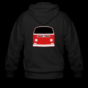 Men's Zip Hoodie - Show your Bay Window Bus pride!  Need more customization?  Click here: http://www.spreadshirt.com/design-your-own-t-shirt-C59/design/1000141322/article/15317834