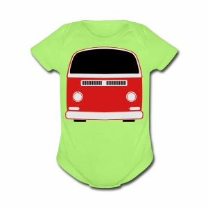 Short Sleeve Baby Bodysuit - Show your Bay Window Bus pride! 