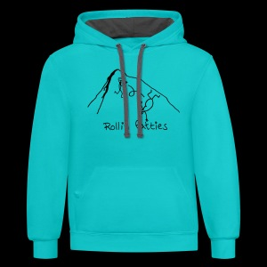 Contrast Hoodie - Rollin' Fatties - www.TedsThreads.co