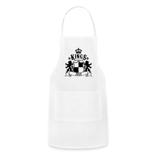 Kings are born in July - Adjustable Apron