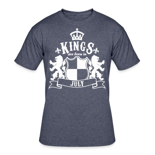 Kings are born in July - Men's 50/50 T-Shirt