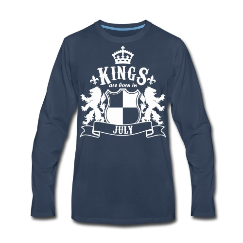 Kings are born in July - Men's Premium Long Sleeve T-Shirt