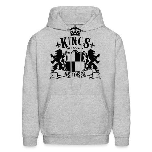Kings are born in October - Men's Hoodie