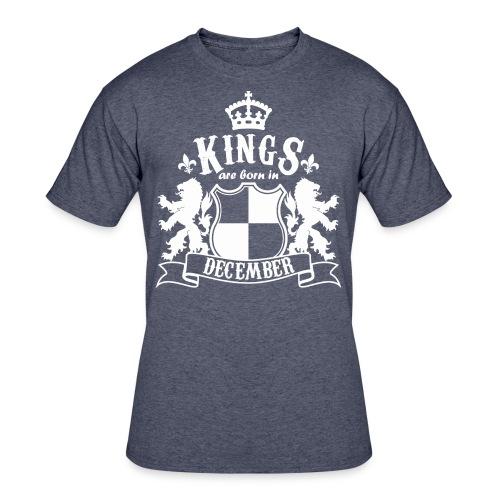 Kings are born in December - Men's 50/50 T-Shirt