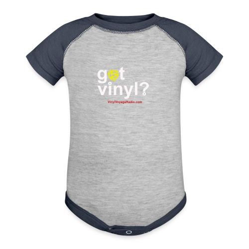 Got Vinyl? White on Black - Contrast Baby Bodysuit
