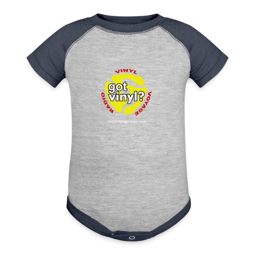 Vinyl Voyage Official Logo - Contrast Baby Bodysuit