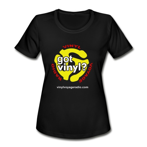 Vinyl Voyage Official Logo - Women's Moisture Wicking Performance T-Shirt