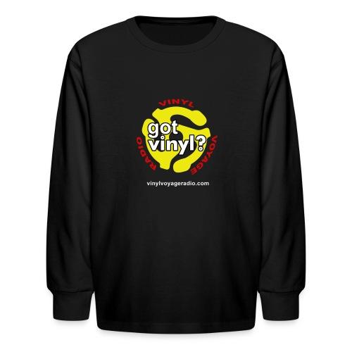 Vinyl Voyage Official Logo - Kids' Long Sleeve T-Shirt