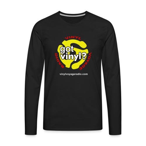 Vinyl Voyage Official Logo - Men's Premium Long Sleeve T-Shirt