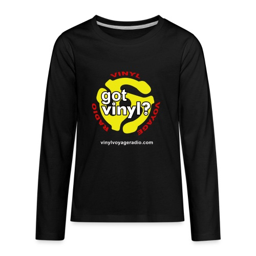 Vinyl Voyage Official Logo - Kids' Premium Long Sleeve T-Shirt