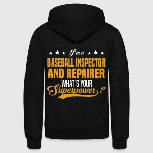 Baseball Inspector And Repairer - Unisex Fleece Zip Hoodie by American Apparel