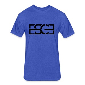 Men's Royal Blue Hoodie w/ ESCE in Black Font - Fitted Cotton/Poly T-Shirt by Next Level