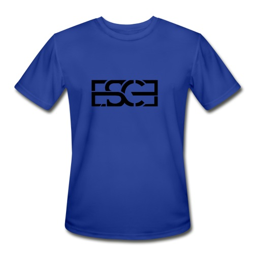 Men's Royal Blue Hoodie w/ ESCE in Black Font - Men's Moisture Wicking Performance T-Shirt