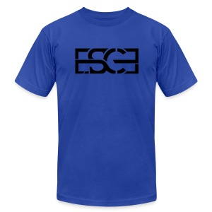 Men's Royal Blue Hoodie w/ ESCE in Black Font - Men's Fine Jersey T-Shirt