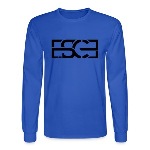 Men's Royal Blue Hoodie w/ ESCE in Black Font - Men's Long Sleeve T-Shirt