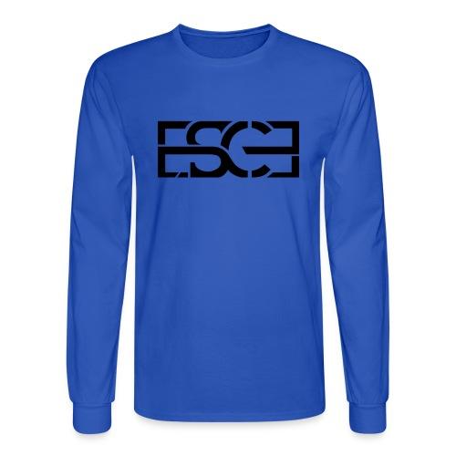 Men's Royal Blue Hoodie w/ ESCE in Black Font - Men's Long Sleeve T-Shirt