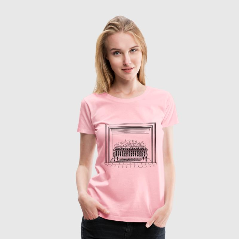 Fireplace - Women's Premium T-Shirt