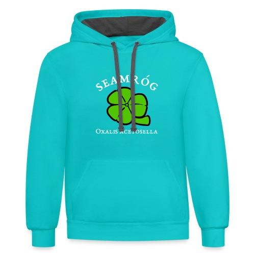 Shamrock Saint Patricks Day in green - Contrast Hoodie