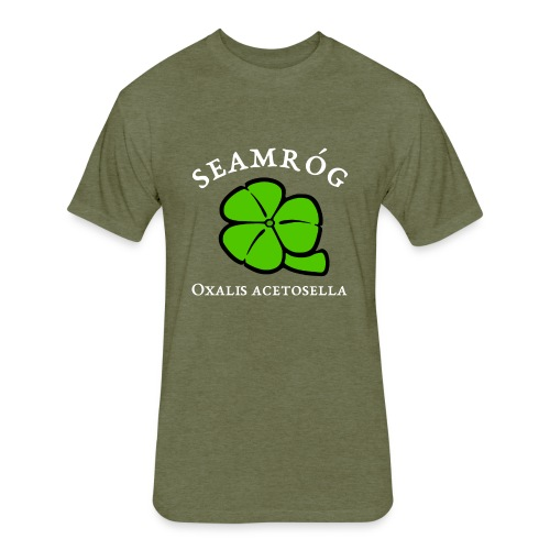 Shamrock Saint Patricks Day in green - Fitted Cotton/Poly T-Shirt by Next Level