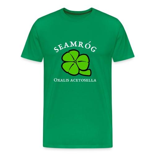 Shamrock Saint Patricks Day in green - Men's Premium T-Shirt