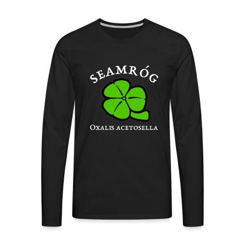 Shamrock Saint Patricks Day in green - Men's Premium Long Sleeve T-Shirt