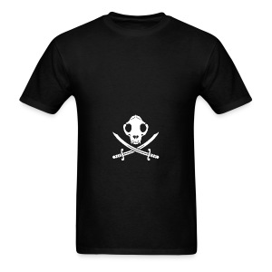 Jolly Kitty Pirate Skull, Bones ans Sabres - Men's T-Shirt