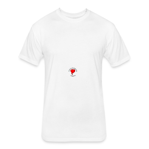 Red Bleeding Heart liberal vintage - Fitted Cotton/Poly T-Shirt by Next Level