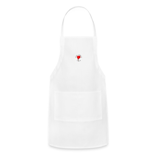 Red Bleeding Heart liberal vintage - Adjustable Apron