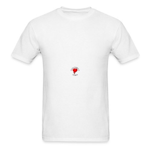 Red Bleeding Heart liberal vintage - Men's T-Shirt