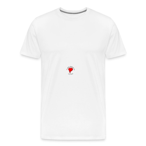 Red Bleeding Heart liberal vintage - Men's Premium T-Shirt