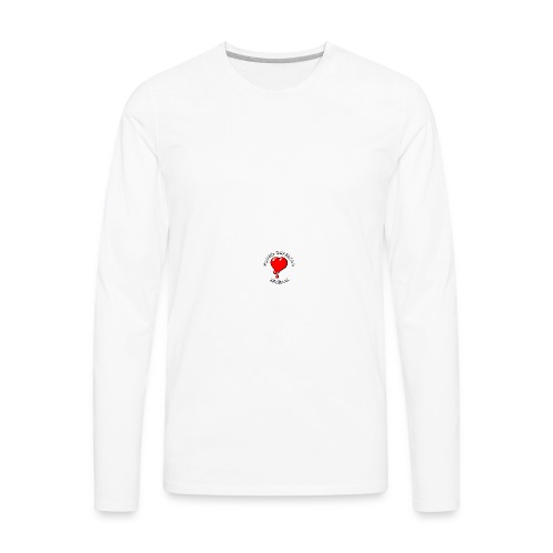 Red Bleeding Heart liberal vintage - Men's Premium Long Sleeve T-Shirt
