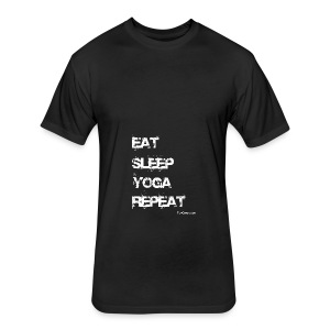 Eat Sleep Yoga Repeat Mug - Black - Fitted Cotton/Poly T-Shirt by Next Level
