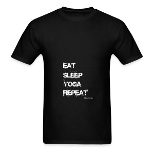 Eat Sleep Yoga Repeat Mug - Black - Men's T-Shirt