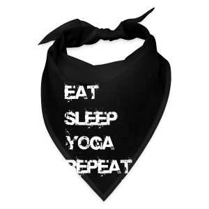 Eat Sleep Yoga Repeat Mug - Black - Bandana