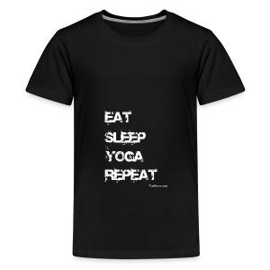 Eat Sleep Yoga Repeat Mug - Black - Kids' Premium T-Shirt