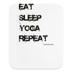 Eat Sleep Yoga Repeat Travel Mug - Mouse pad Vertical