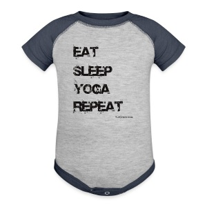 Eat Sleep Yoga Repeat Travel Mug - Baby Contrast One Piece