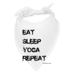 Eat Sleep Yoga Repeat Travel Mug - Bandana