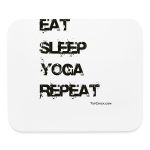 Eat Sleep Yoga Repeat Travel Mug - Mouse pad Horizontal