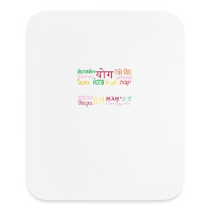 Yoga - Uniting The World Travel Mug - Mouse pad Vertical