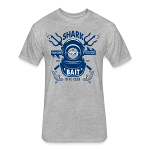 Shark Bait Dive Club - Fitted Cotton/Poly T-Shirt by Next Level