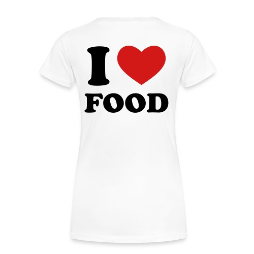 I Heart Food! - Women's Premium T-Shirt